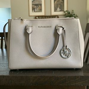 Authentic Michael Kors gray satchel